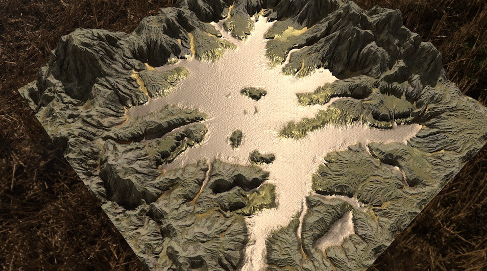 Realistic terrain with heightfields