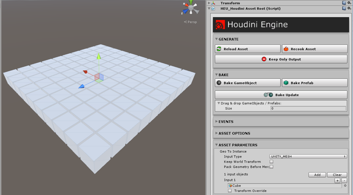 Houdini Engine for Unity: Instancing