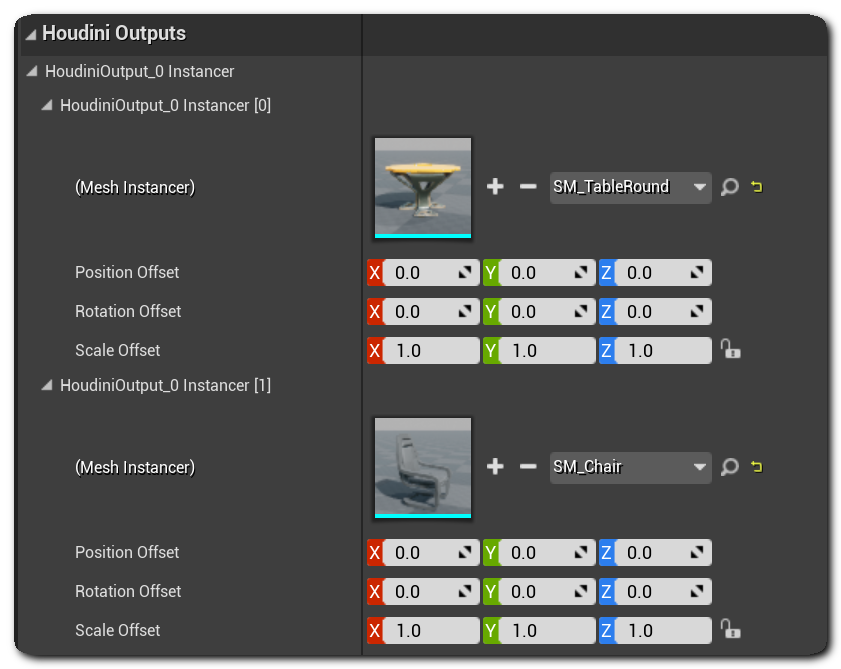 Houdini Engine for Unreal: Outputs