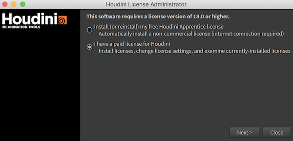 Indie License Prompt